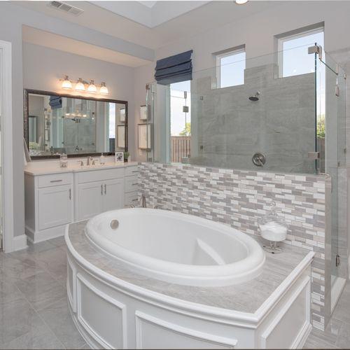Plan 823 Primary Bathroom Representative Image