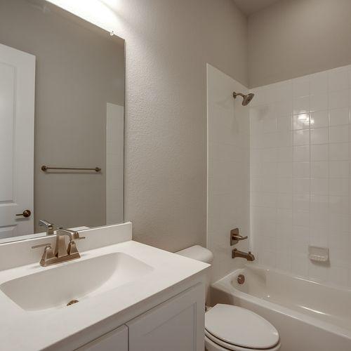 Plan 826 Secondary Bathroom Representative Image