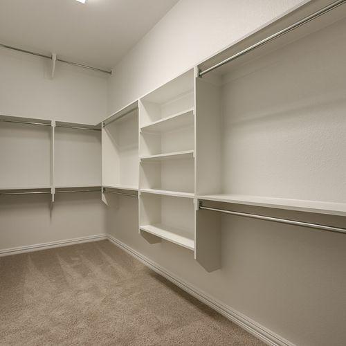 Plan 826 Primary Closet Representative Image