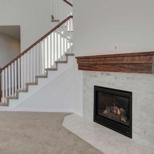 Plan C405 Fireplace Representative Image