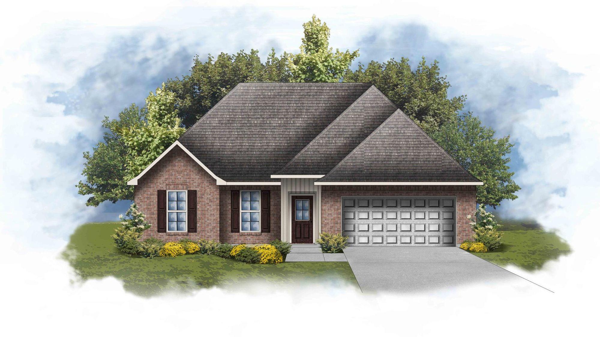 Ripley IV H - Front Elevation -DSLD Homes