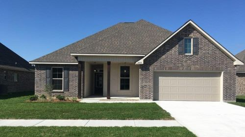 Front View  - HUNTING II B Elevation – THE COVE AT MORGANFIELD Community - DSLD Homes - LAKE CHARLES, LA