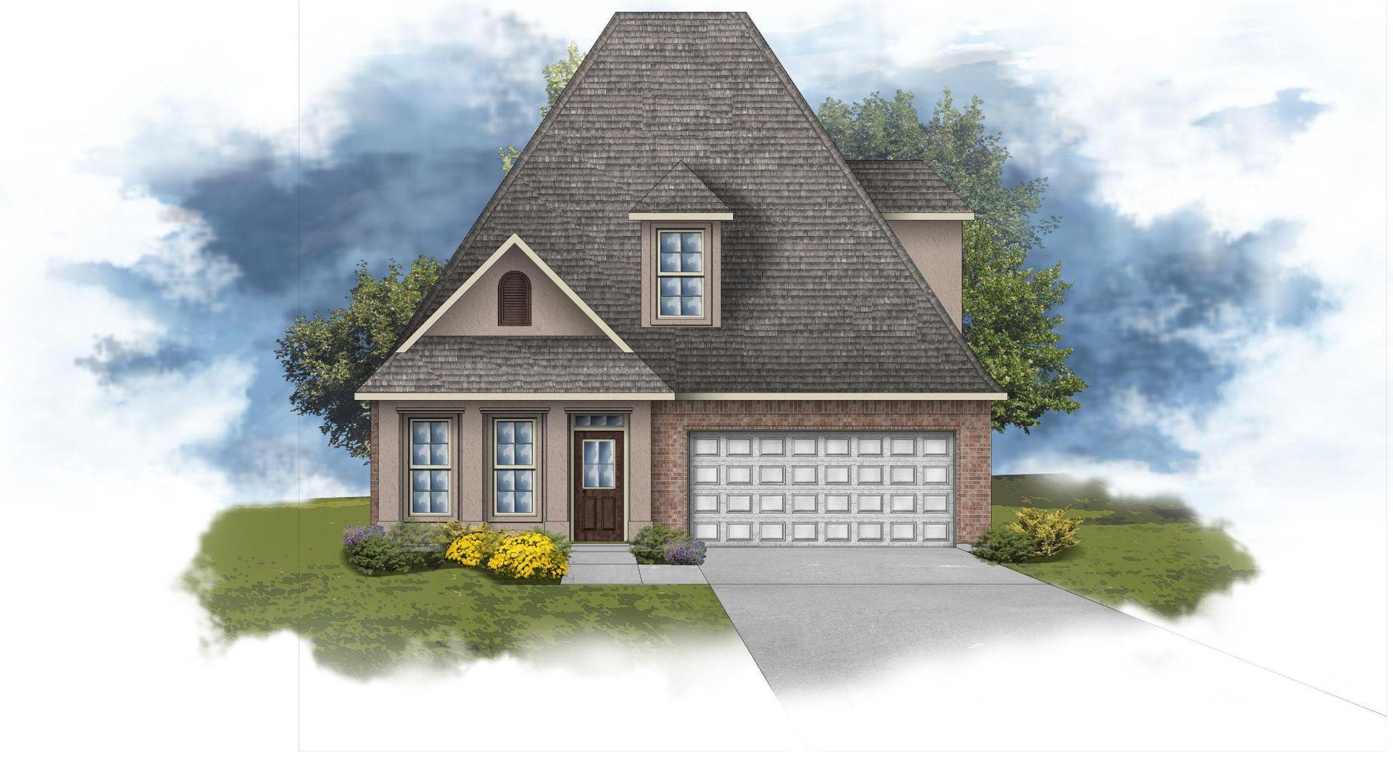 Copeland III B - Front Elevation - DSLD Homes