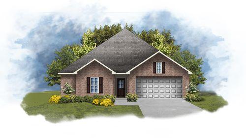 Hughes IV A - Front Elevation - DSLD Homes