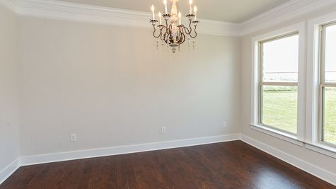 Branford II A - Open Floor Plan - DSLD Homes - Dining room with fixtures and hardwood floors