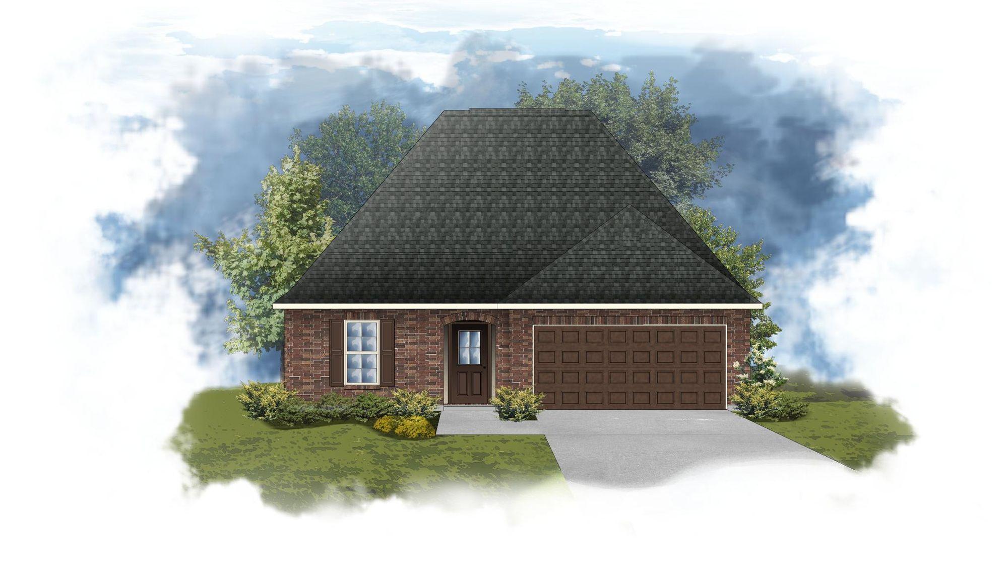 Nolana III B - Front Elevation - DSLD Homes