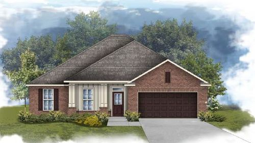 Rodessa III A - Front elevation - open floor plan