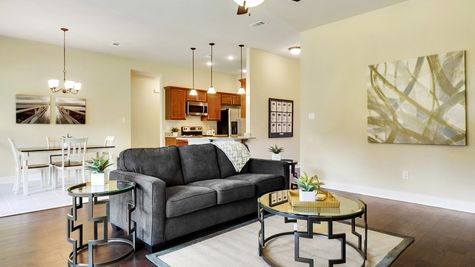 Living Room with Decor - Reunion Place - DSLD Homes Biloxi