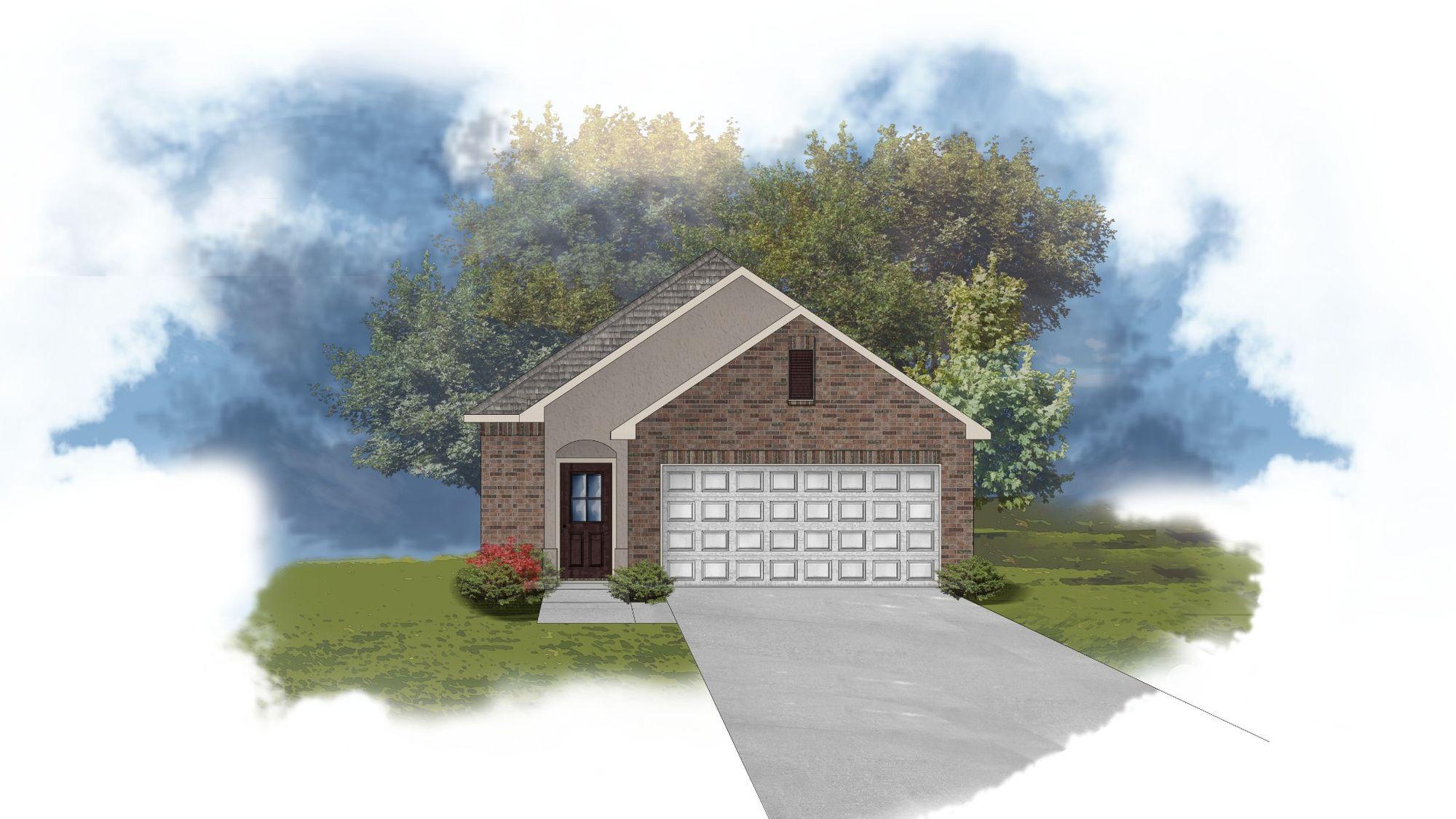 Lewis II A Floorplan Exterior Elevation Image - Open Floor Plan - DSLD Homes