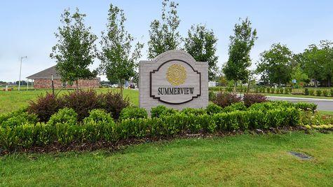 Front Entrance Sign - Summerview - DSLD Homes Lafayette