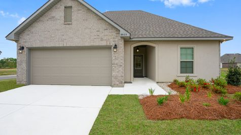 Front of Model Home- New Construction Homes - DSLD Homes Grand Oaks Gonzales