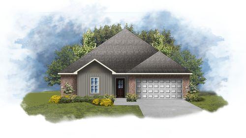 Hillsborough IV H Front Elevation Image - DSLD Homes Open Floorplan