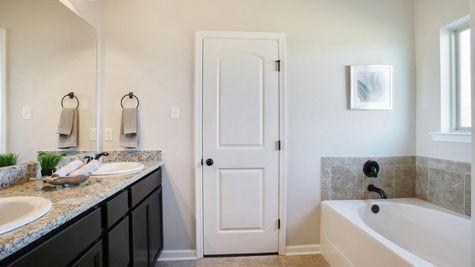 Master Bathroom in Model Home - DSLD Homes - Cottonwood Pond in Youngsville