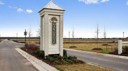 Oak Grove- Community Sign- Front Entrance- DSLD Homes- Iowa Louisiana- Lake Charles area