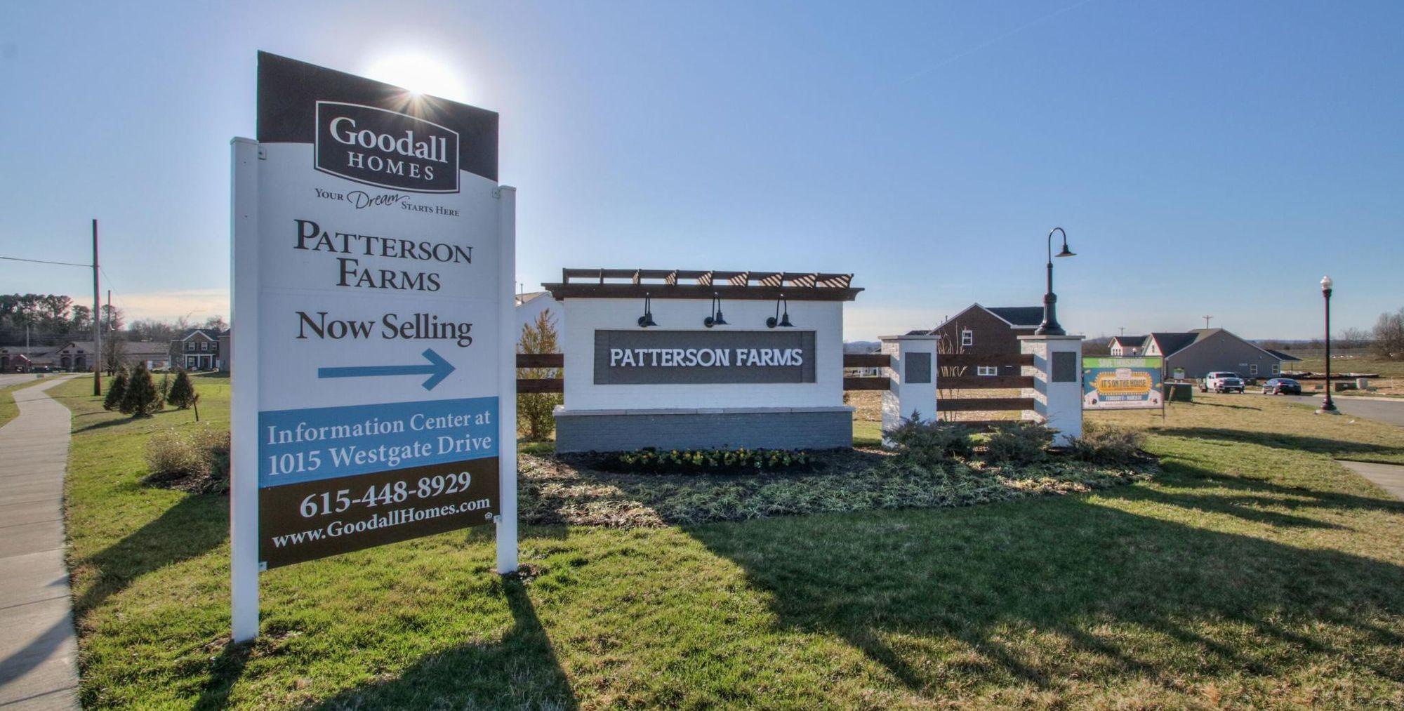 Patterson Farms Community Entrance