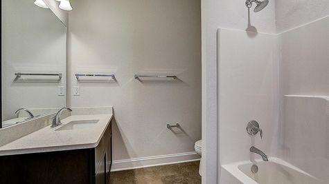 1390 Overlook Circle bathroom - Halen Homes