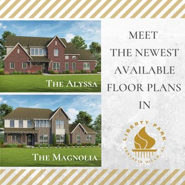 <p>The Alyssa and The Magnolia are NOW AVAILABLE in Liberty Park. Both homes are over 3,000 square feet, with an open floor plan and many windows throughout the house for plenty of natural light.<br/></p>