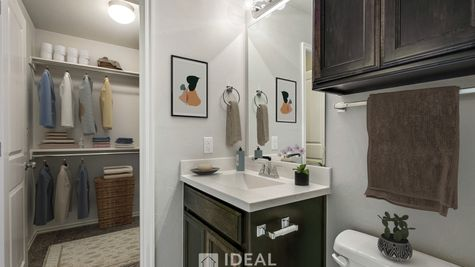 Astaire Master Bathroom and Walk-In Closet