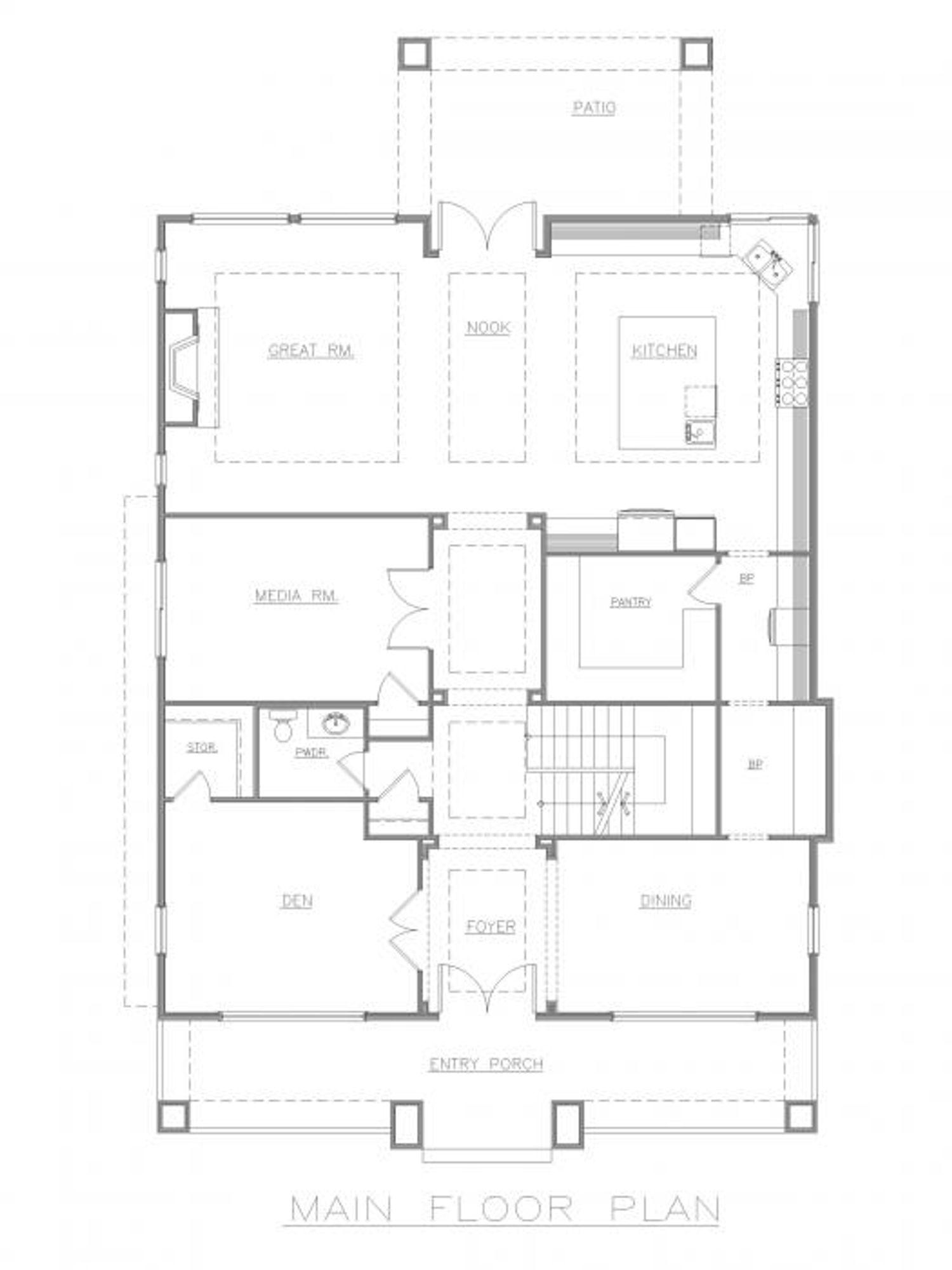 Florence Main Floor Plan