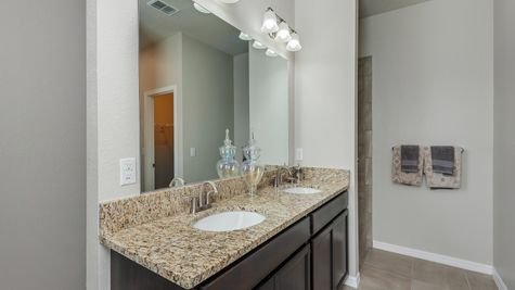 Kindred Homes Cape Coral Model Home Master Bathroom