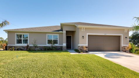 Kindred Homes Cape Coral Model Home - The Rochelle Plan