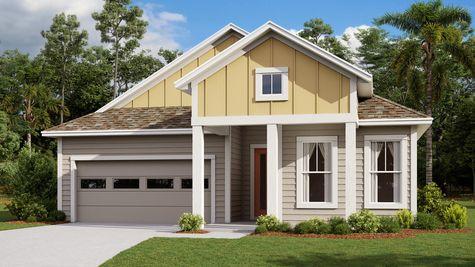 The Tarpon Modern Farmhouse Elevation 4
