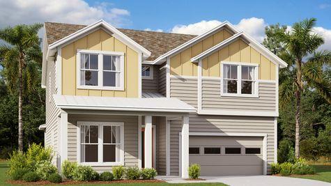 The Manatee Modern Farmhouse Elevation 4