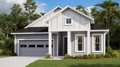 The Tarpon Modern Farmhouse Elevation 7