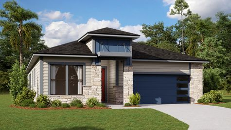 The Ginnie Modern Prairie Elevation 7