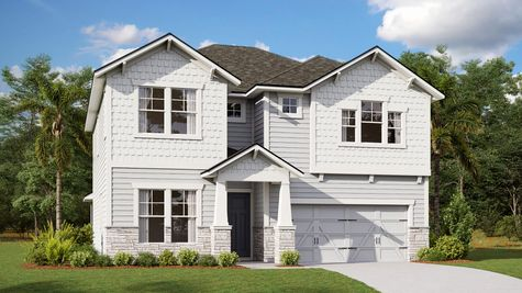 The Manatee Southern Craftsman Elevation 8