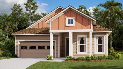 The Tarpon Modern Farmhouse Elevation 2