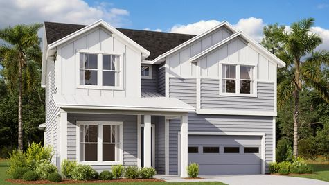 The Manatee Modern Farmhouse Elevation 7