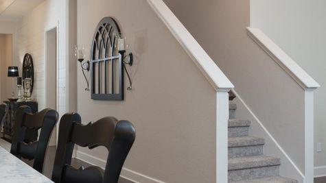 The Ellaville Model Home - Gallery - Bonus Room Stairs