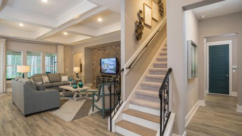Monroe-Family Room-Bonus Stairs