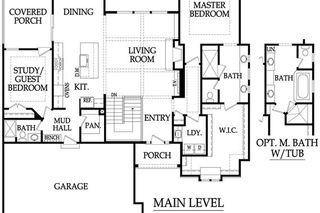 The Sonoma Reverse Main Level Floor Plan by Rodrock Homes