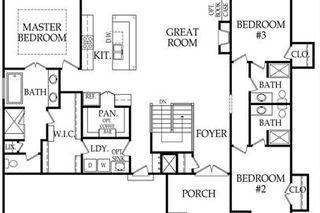The Chesapeake Ranch by Hilmann Home Building -  Main Level Floor Plan.