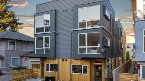 Front Street View of Element I in Capitol Hill by Sage Homes Northwest