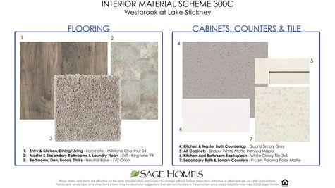 Interior Material Scheme 300C at Westbrook in Lynnwood by Sage Homes Northwest