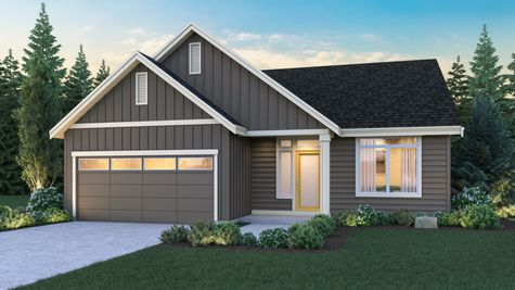 The Eileen Elevation A by Sage Homes Northwest