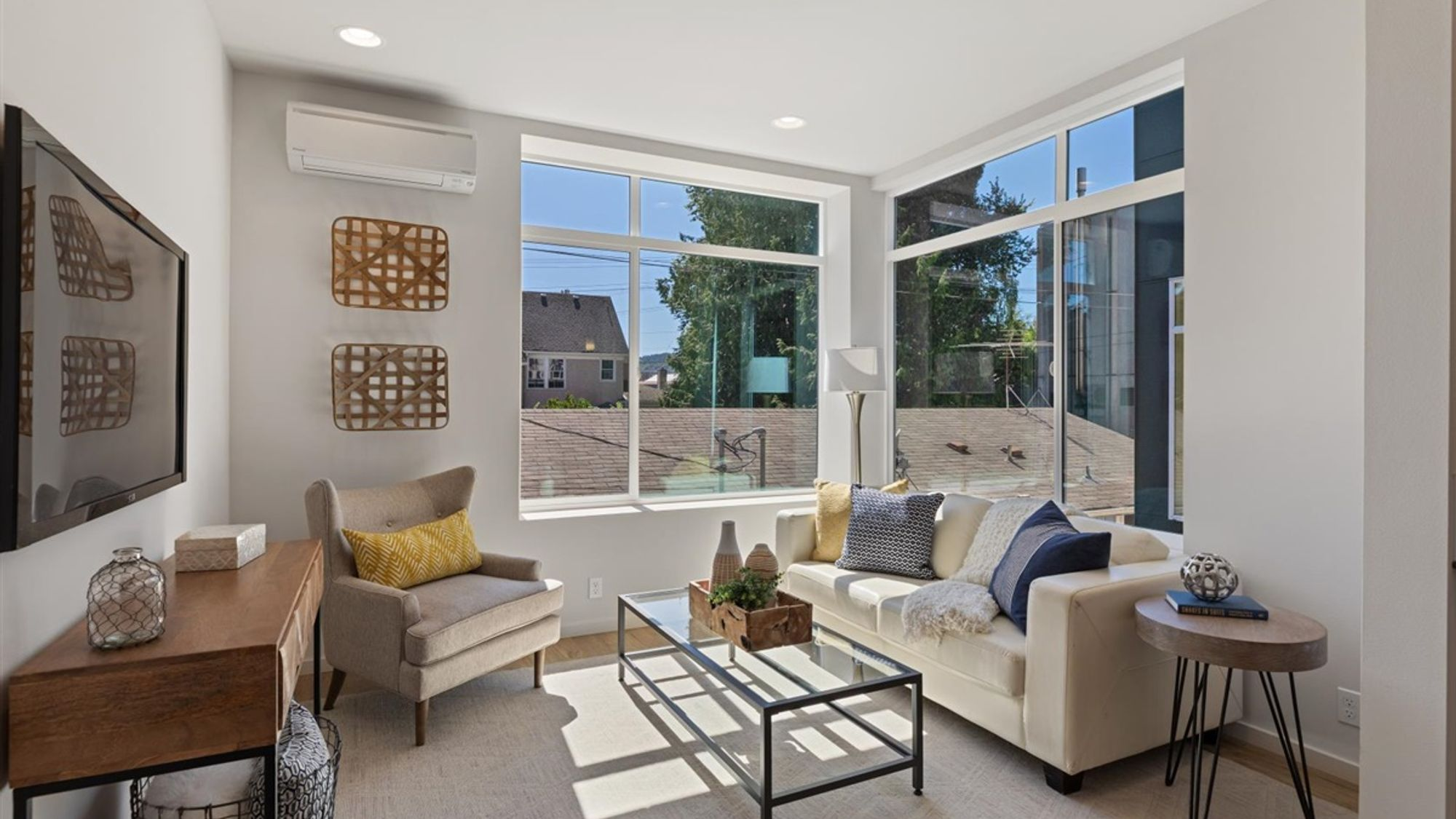 Living Room of the Nuetra home by Sage Homes Northwest