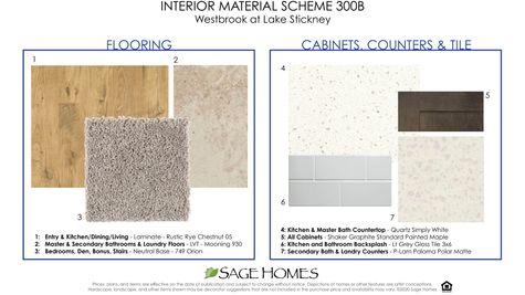 Interior Material Scheme 300B at Westbrook in Lynnwood by Sage Homes Northwest