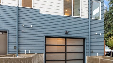 Garage Access of the Fuller townhome by Sage Homes Northwest