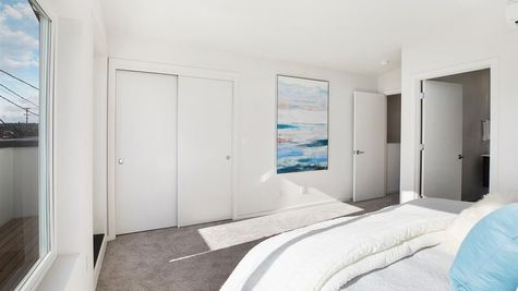 Master Bedroom and Closet of the Eero by Sage Homes Northwest