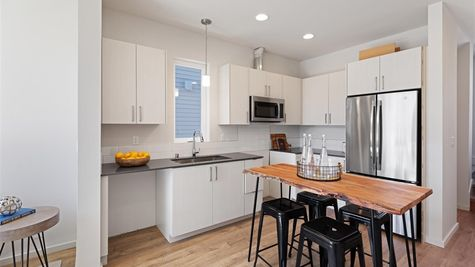 Kitchen of the Nuetra home by Sage Homes Northwest