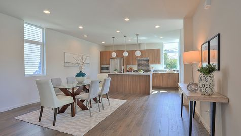 Dining Room and Kitchen of 64th in Ballard by Sage Homes Northwest
