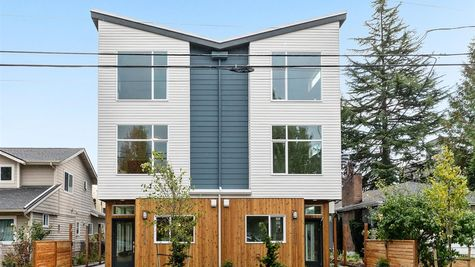 Front Exterior of the the Alvar at the Watermark at Highland Park by Sage Homes Northwest