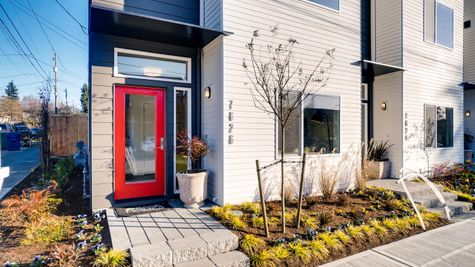 Front Door of 7626 6th Ave NW in Phinney Ridge by Sage Homes Northwest