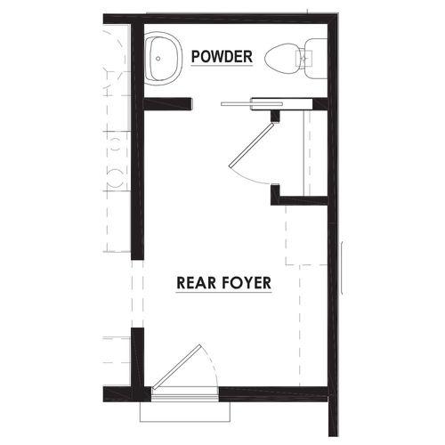 Optional Rear Foyer Powder Room