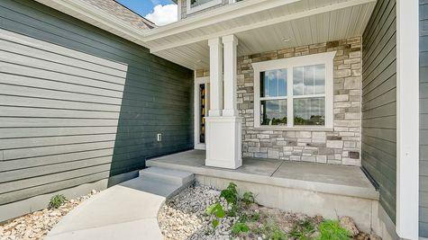 Front Porch of Juniper Craftsman Home