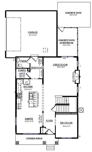 First Floor Plan Drawing of 6100 Shooting Star Trail, McFarland, WI Crafstman Elevation